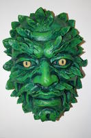Green Man mask sculpture