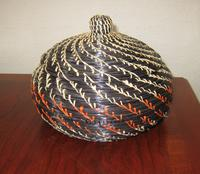 Black Pine Needle Basket with lid